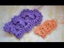 ♥ Вязание Крючком • Ленточное кружево с пышными столбиками • Crochet Lace Strip • ellej