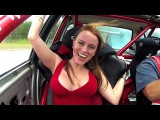 Подборка дрифт такси прокатил красивую девушку и показала грудь