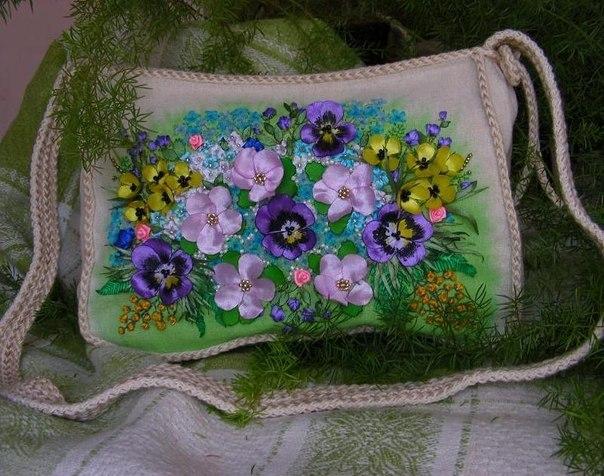 Вышивка на сумку своими руками