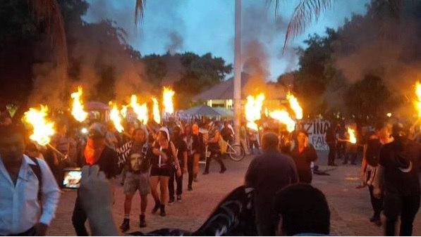 Демонстрация в Канкуне