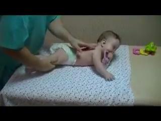 Детский массаж для грудных детей 6-9 месяцев