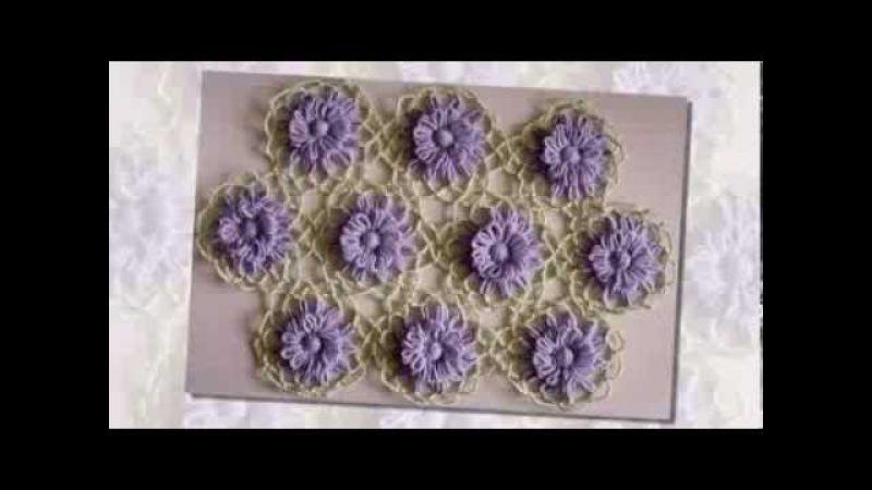 Вяжем полотно из цветов, связанных на тенерифе Вяжем с Людмилой Тен