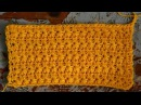 Узор крючком Звездочки Цветочки How to Crochet Star Stitch