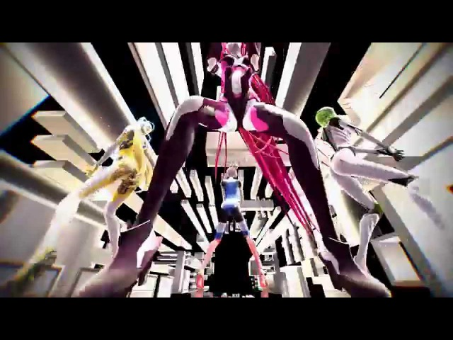 MMD | Kuroyu | Acid IA | Carbon White Gumi | Sunset Neru | Melodic Akikoloid
