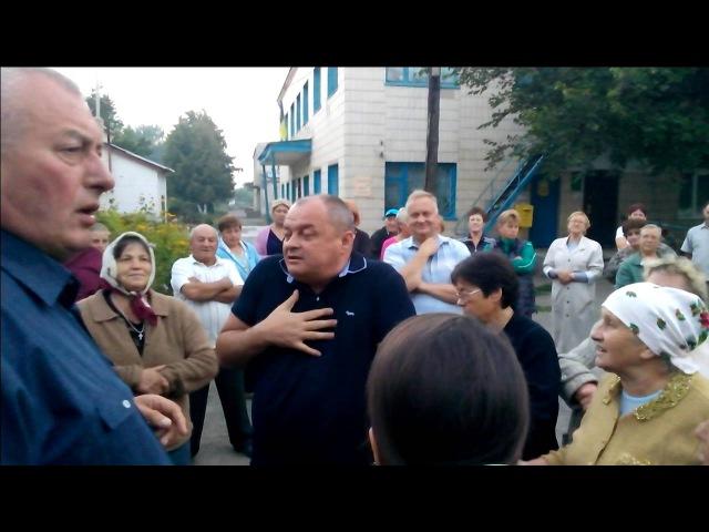 Сільські збори активу села із директором СТОВ Старинська птахофабрика Зубчуком О М
