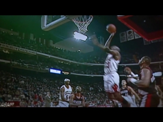 Michael Jordan free throw dunk | VK.COM/VINETORT
