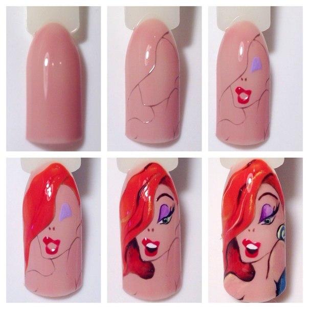 Дизайн ногтей с мультяшками фото