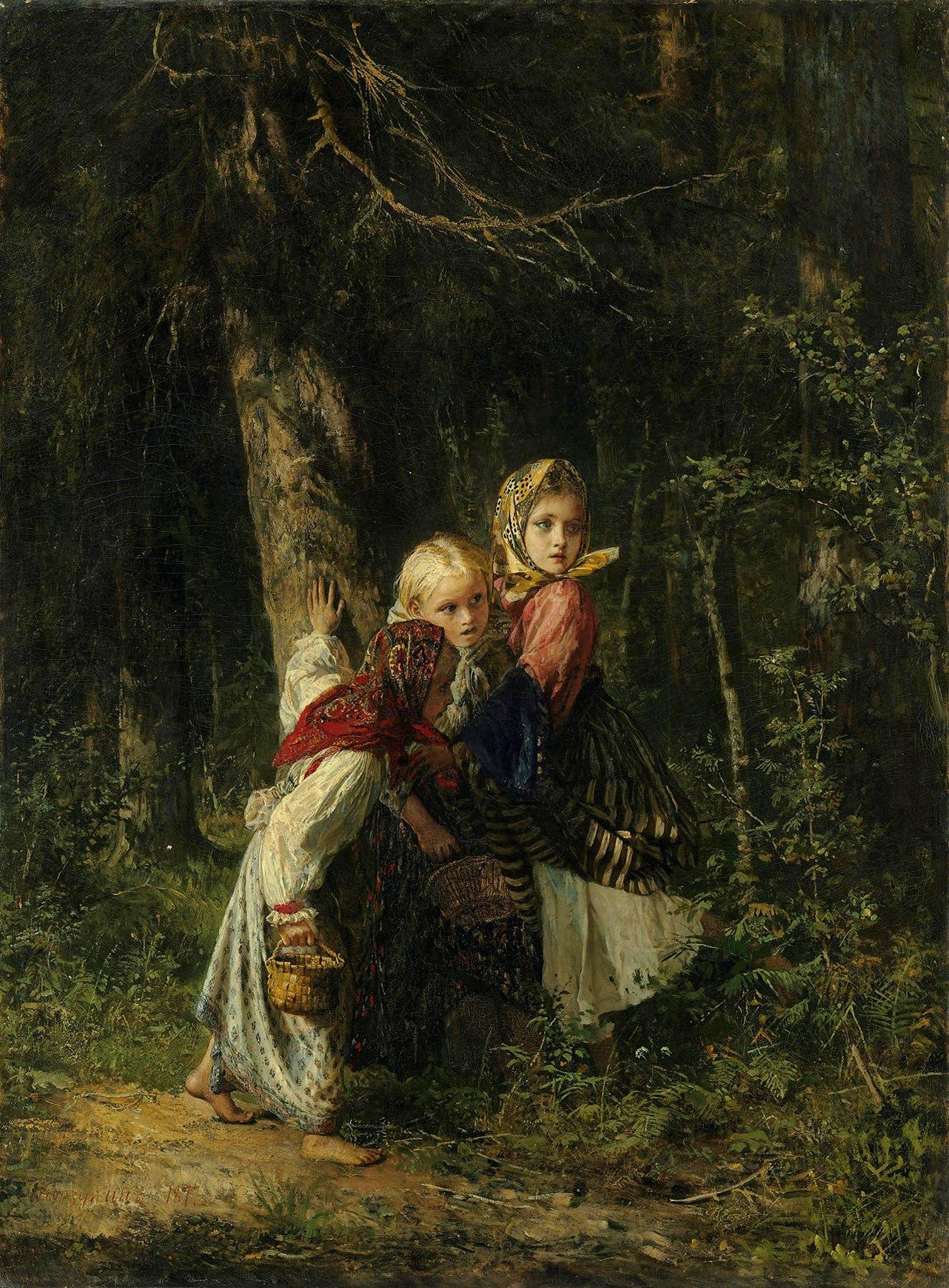 Русские девочки в лесу 13 фотография
