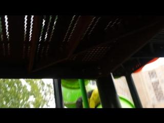 02-10-2015 Настенька на детской площадке около поликлиники. Скачет как горная лань с подозрением на ветрянку.
