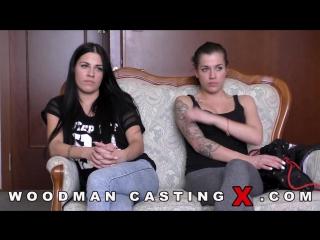 Близняшки (Silvia Dellai, Eveline Dellai) [all sex, woodman casting, anal, 2016]