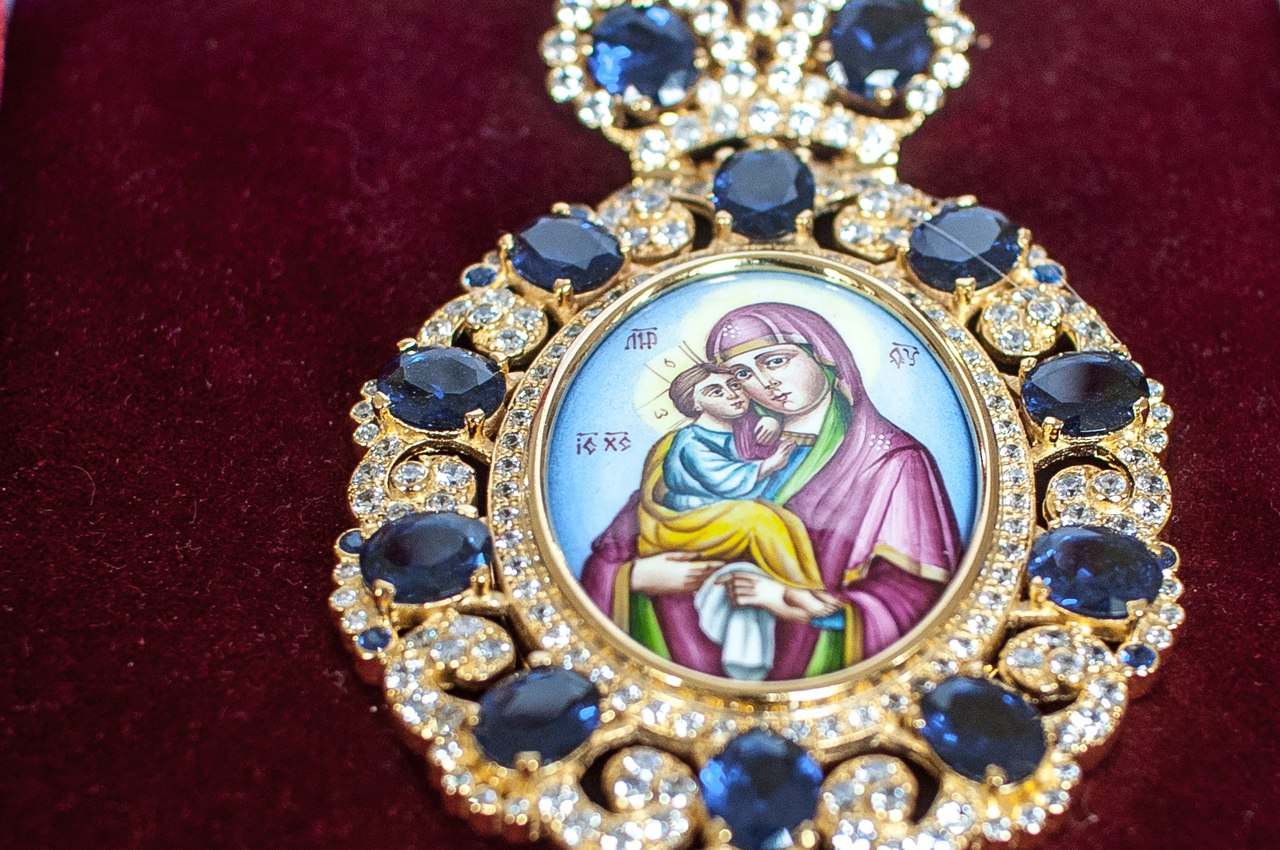 Панагия к иконе святителя Спиридона