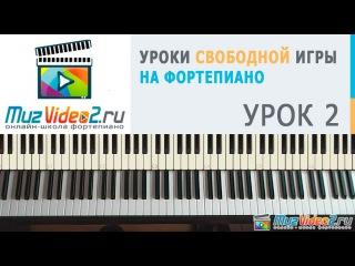 Уроки фортепиано. Урок 2 - простой аккомпанемент на фортепиано