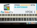 Уроки фортепиано Урок 1 построение простых аккордов на фортепиано