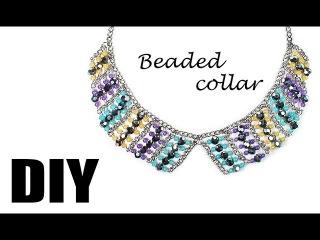 DIY: handmade beaded collar 2 / Воротник из фурнитуры и бусин своими руками 2
