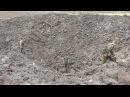 Донецк Мощнейший взрыв Воронка 30 метров в диаметре
