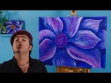 Art Lesson How To Paint an Expressionist Flower using Acrylic Paint