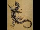 Мастер класс Барельеф ящерицы по трафарету из декоративной штукатурки Декор ст...