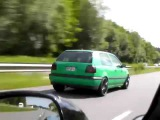 Golf 3 VR6 Kompressor vs Audi R8 V10