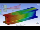 ANSYS 17.0 Tutorial - Non Linear Plastic Deformation I-Beam
