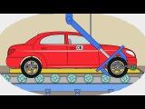 Раскраска - Учим цвета - Как делают легковые машины - Мультики про машинки для детей малышей