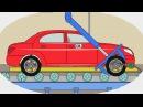 Мультик - Раскраска. Учим Цвета - Как делают легковые машины - Мультики про машинки для детей