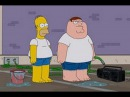 The Simpsons Full Episode - 2014 The Simpsons Family Guy Crossover - Comic Con - Video Game