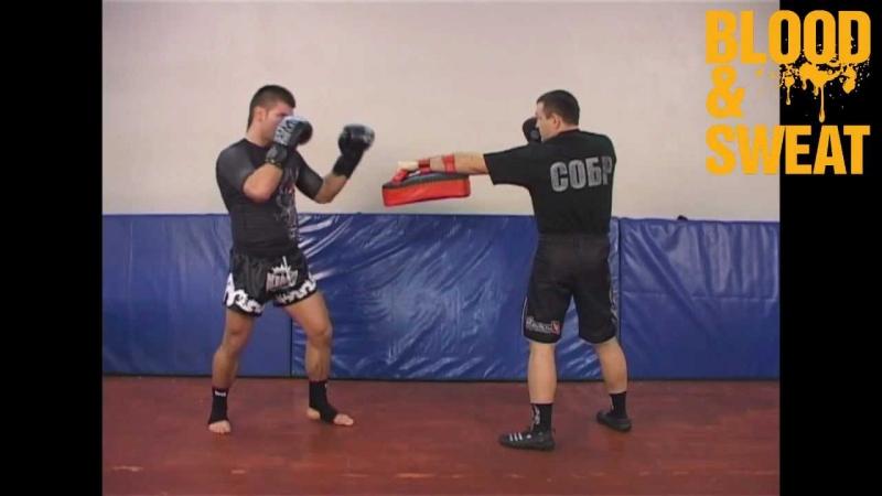 Бокс. Удар супермена на джеб. Boxing. Superman punch countering jab.