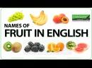 Fruit in English - Vocabulary
