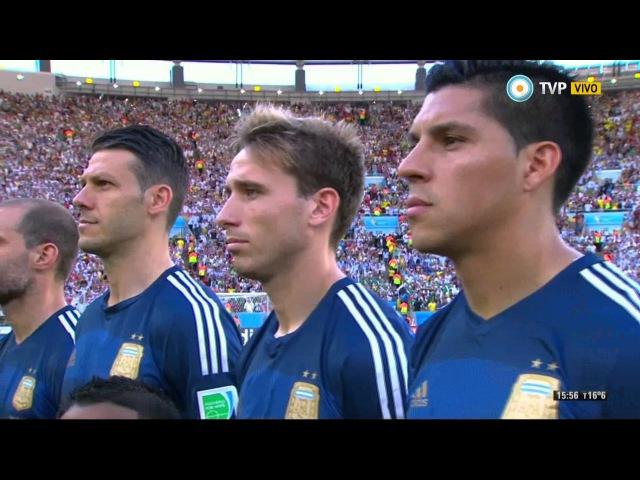 El Himno Argentino en la Final del Mundial 2014
