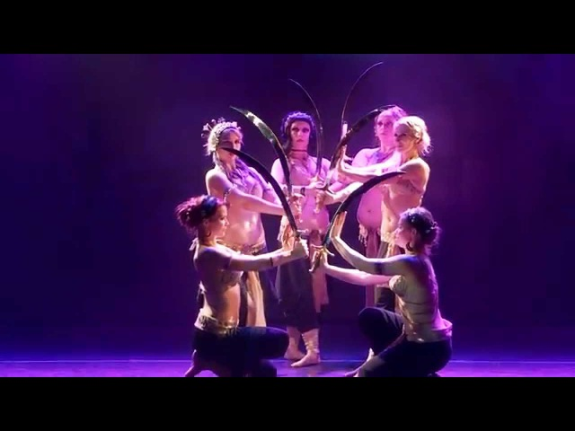 Sirin Tribe - Sword tribal fusion dance @Tribal Universe Festival 2015