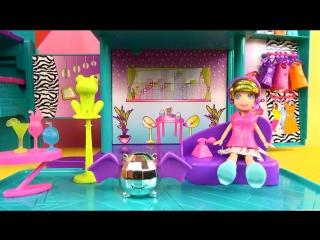 Polly Pocket Magic Fashion Stage Открываем детский набор Полли Покет рок звезда Домик трансформер