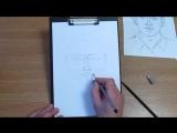 Как нарисовать лицо карандашом.