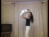 Убрать живот после родов видео. Силовая тренировка с ребенком