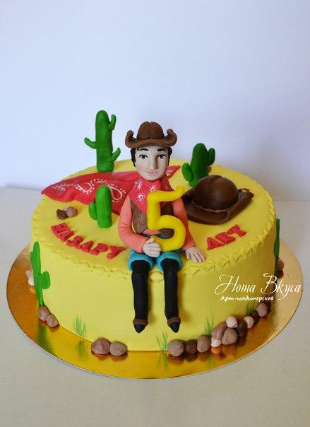 Торт с ковбоем