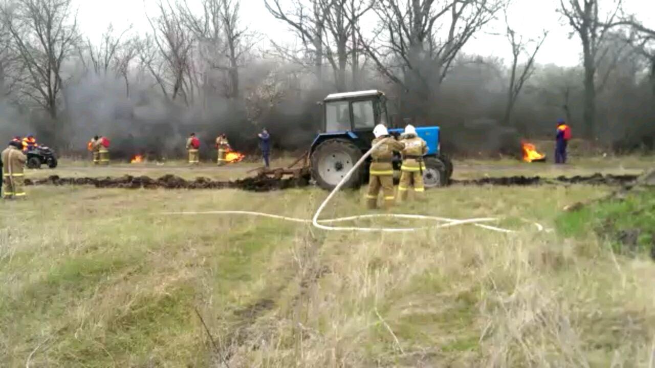 В Зеленчукском районе  была проведена командно-штабная тренировка по организации тушения лесных пожаров