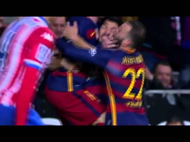 Спортинг Хихон Барселона 1 2 гол Лионель Месси 17 02 2016