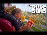 The Dudesons - Eating junk food on the FREEFALL MACHINE!!
