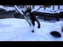 Рыжие панды веселятся в снегу!