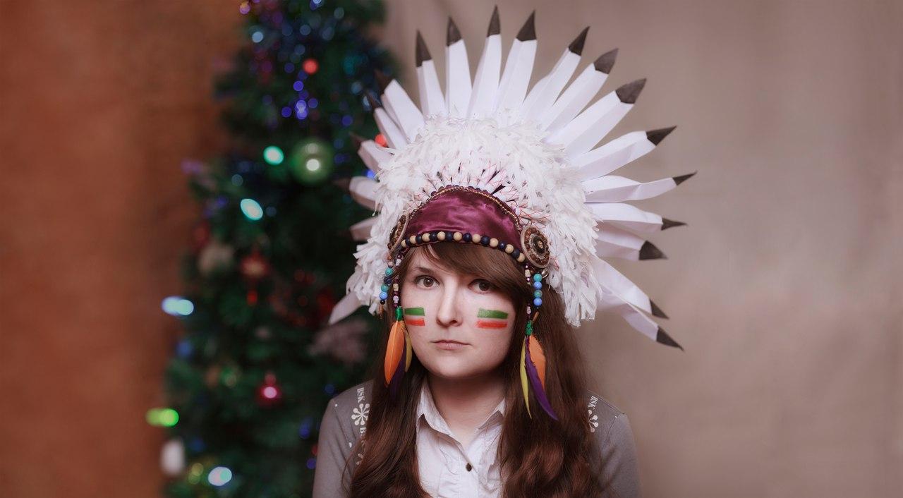 Сделать своими руками перья для индейца