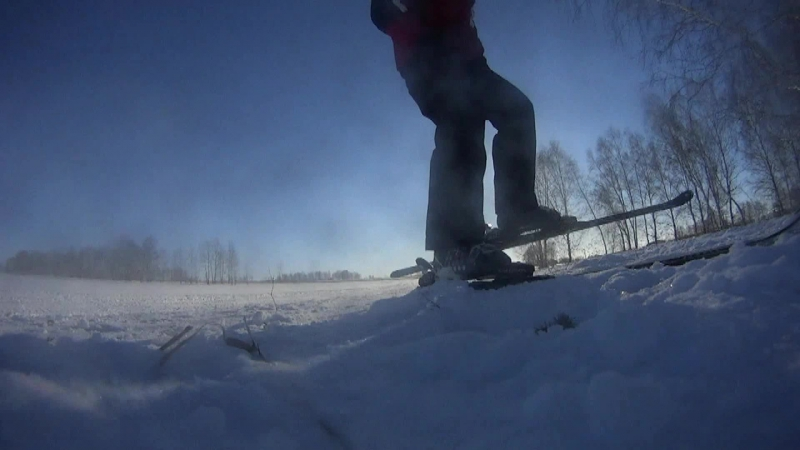 замедленная съемка sony hdr as30v, торможение горные лыжи