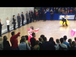 Чемпионат России по спортивным бальным танцам 13.01.2016 юниоры-1 Европейская программа