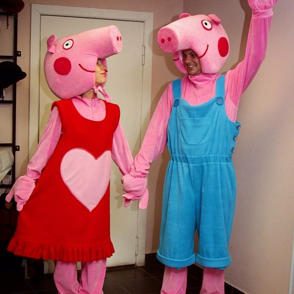 Карнавальный костюм свинка пеппа своими руками 44
