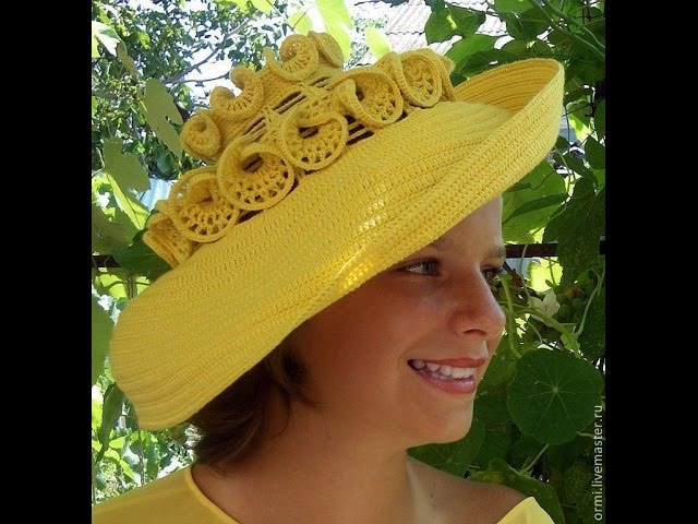 Вязаные шляпы для леди. Креативные. Beautiful crochet hats for lady