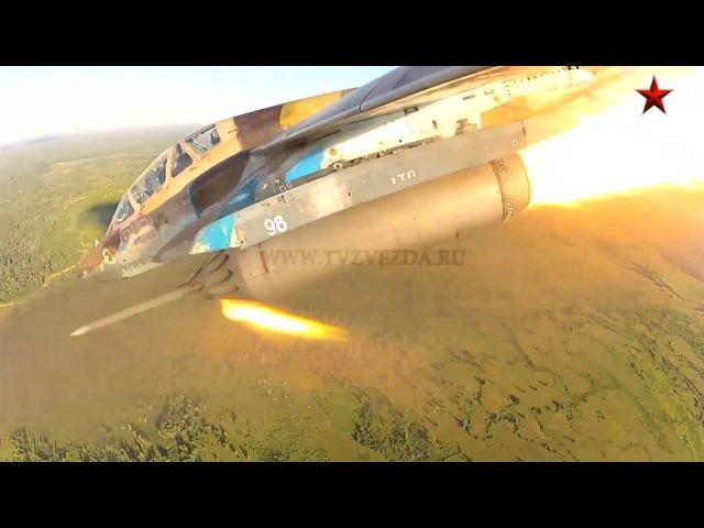 Полет самолета Су-25УБ. Эксклюзивная съемка