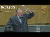 Очередной скандал с Жириновским | Госдума, сентябрь 2015