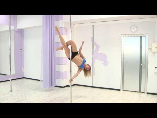Pole dance с Анной Елисеевой 9 продолжающие (трюк ангел и вариация)