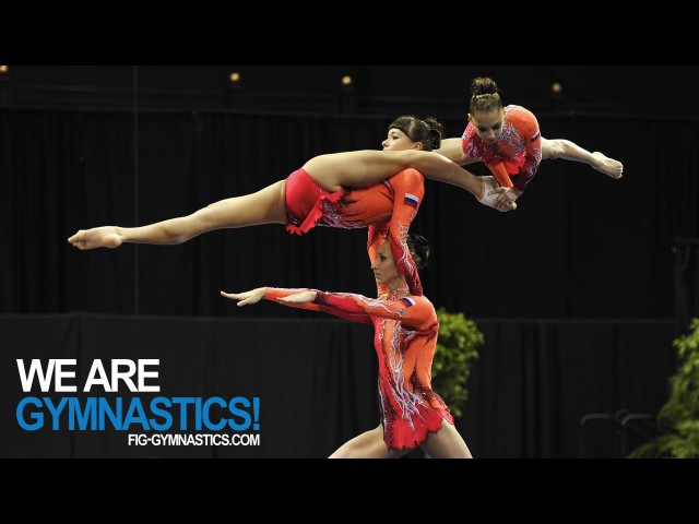 2012 Acrobatic Worlds LAKE BUENA VISTA USA Women's Group Final We are Gymnastics
