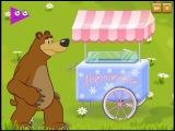 Masha and the Bear game Ice Cream. Маша и Медведь Миссия Мороженое. Развивающая игра