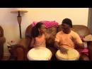 Mamady Keita daughter playing djembe