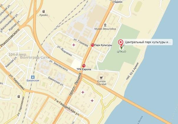 Подробная карта Волгограда